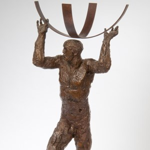 Dame Elisabeth Frink RA (1930-1993),  Maquette for 'Atlas', bronze