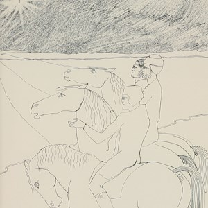 THREE KINGS  Lithograph, inscribed 'Love from Lis' - Elisabeth Frink