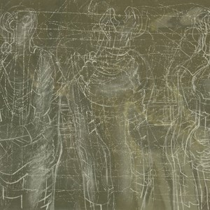 Henry Moore (British, 1898-1986) THREE CHALKED FIGURES II (CRAMER 355)