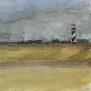 Peter Coker RA (1926-2004) VIEW OF A COASTAL TOWN
