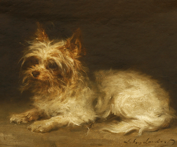 Louis Eugène Lambert (French, 1825-1900) PORTRAIT OF A TERRIER
