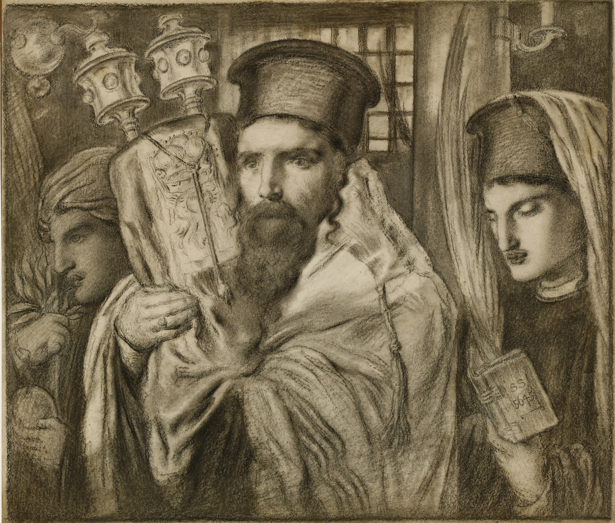 simeon solomon CARRYING THE TORAH