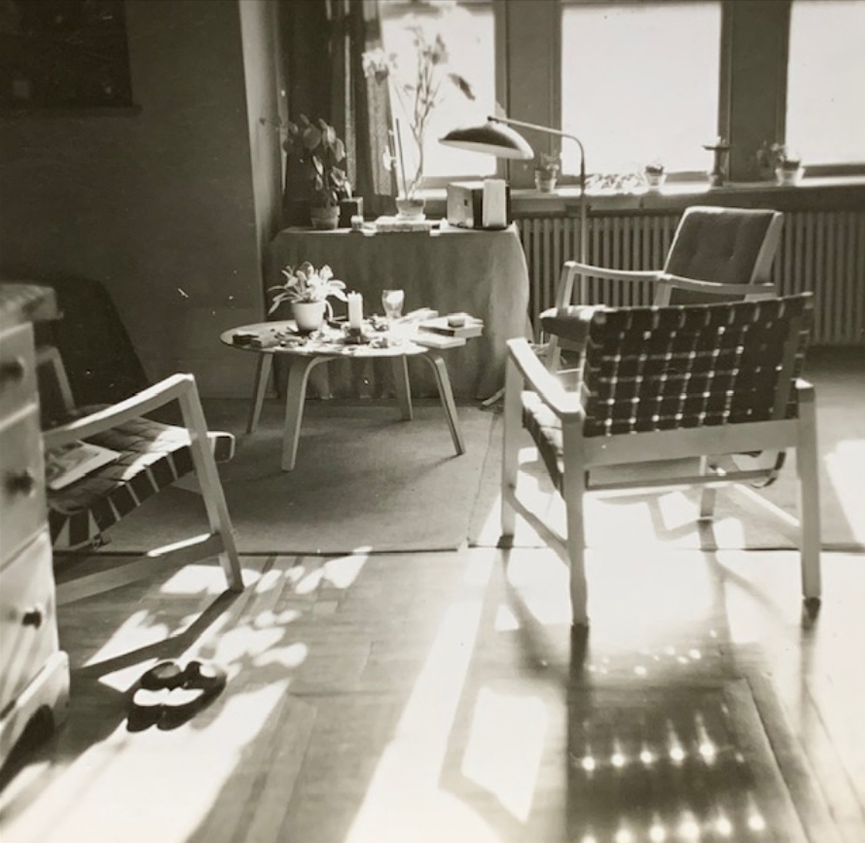 5.The John Polak Collection of Chairs in his flat in Phillidelphia