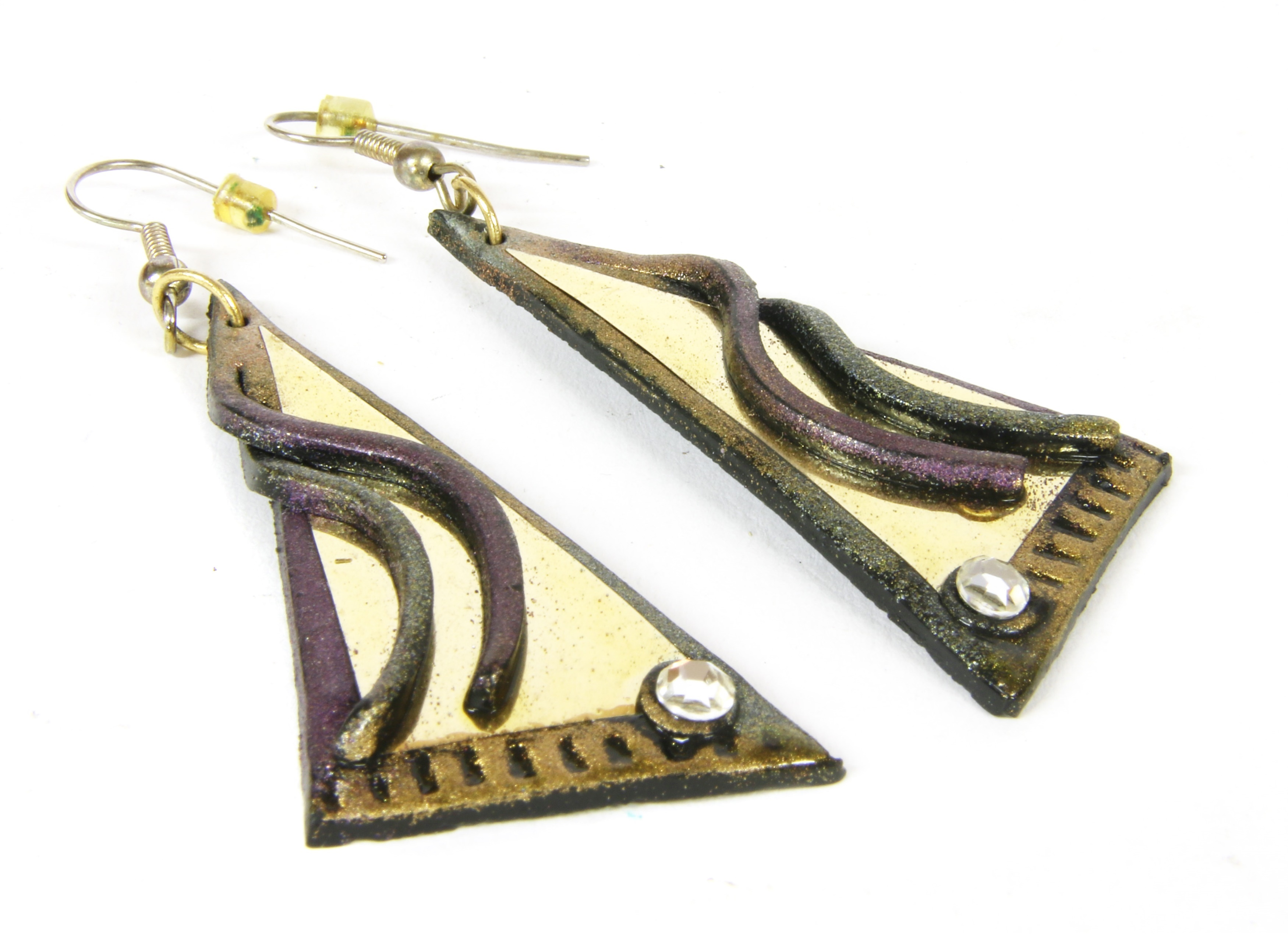 A pair of earrings by Andrew Logan (b.1945), purchased directly from Andrew Logan, c.1980, when the vendor worked for Zandra Rhodes.