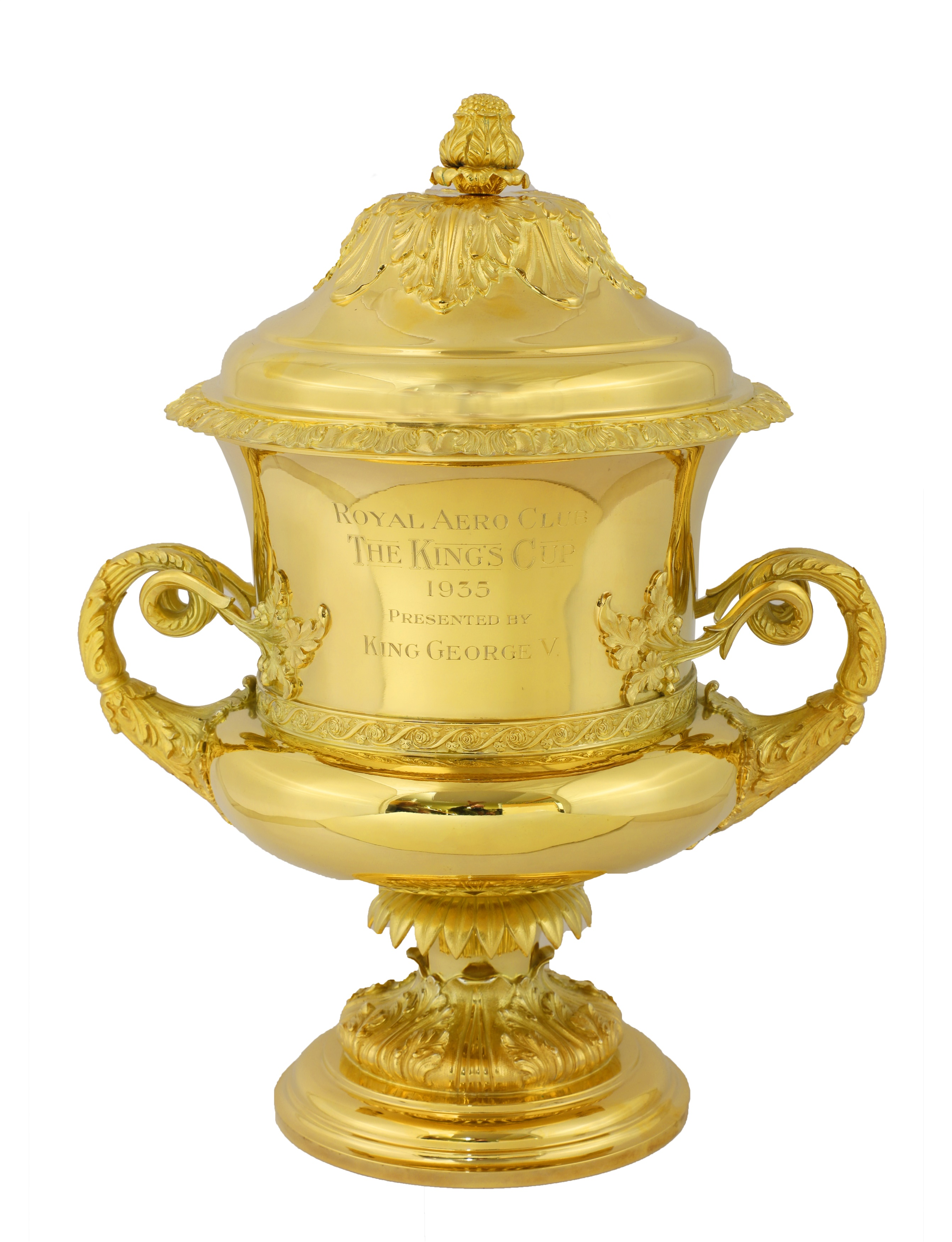 A silver gilt flying trophy 'The King's Cup'