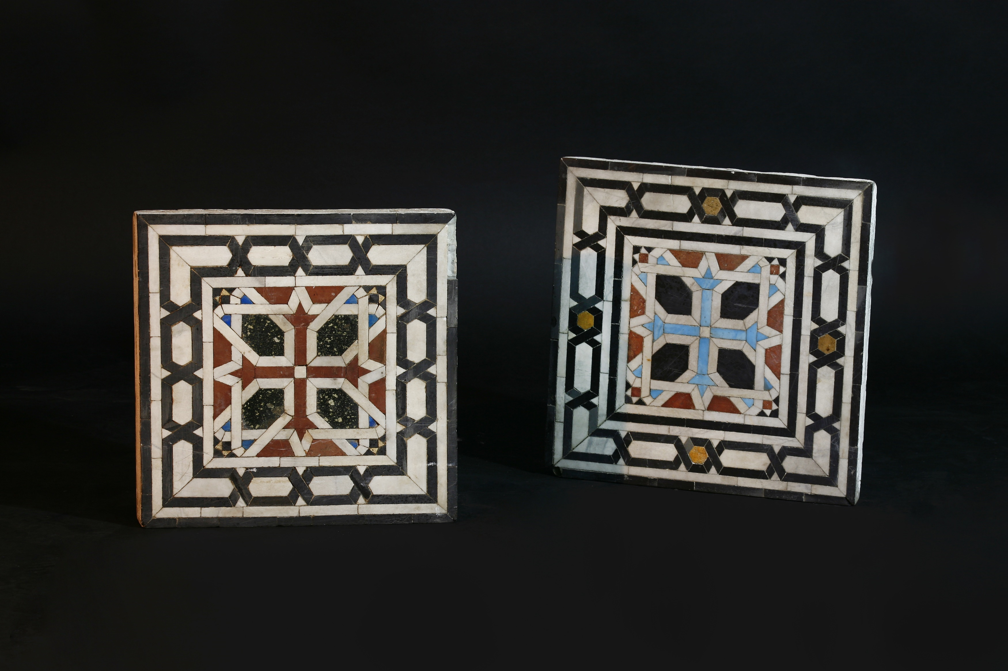 Two Mamluk (15th-17th century CE) square mosaic panels