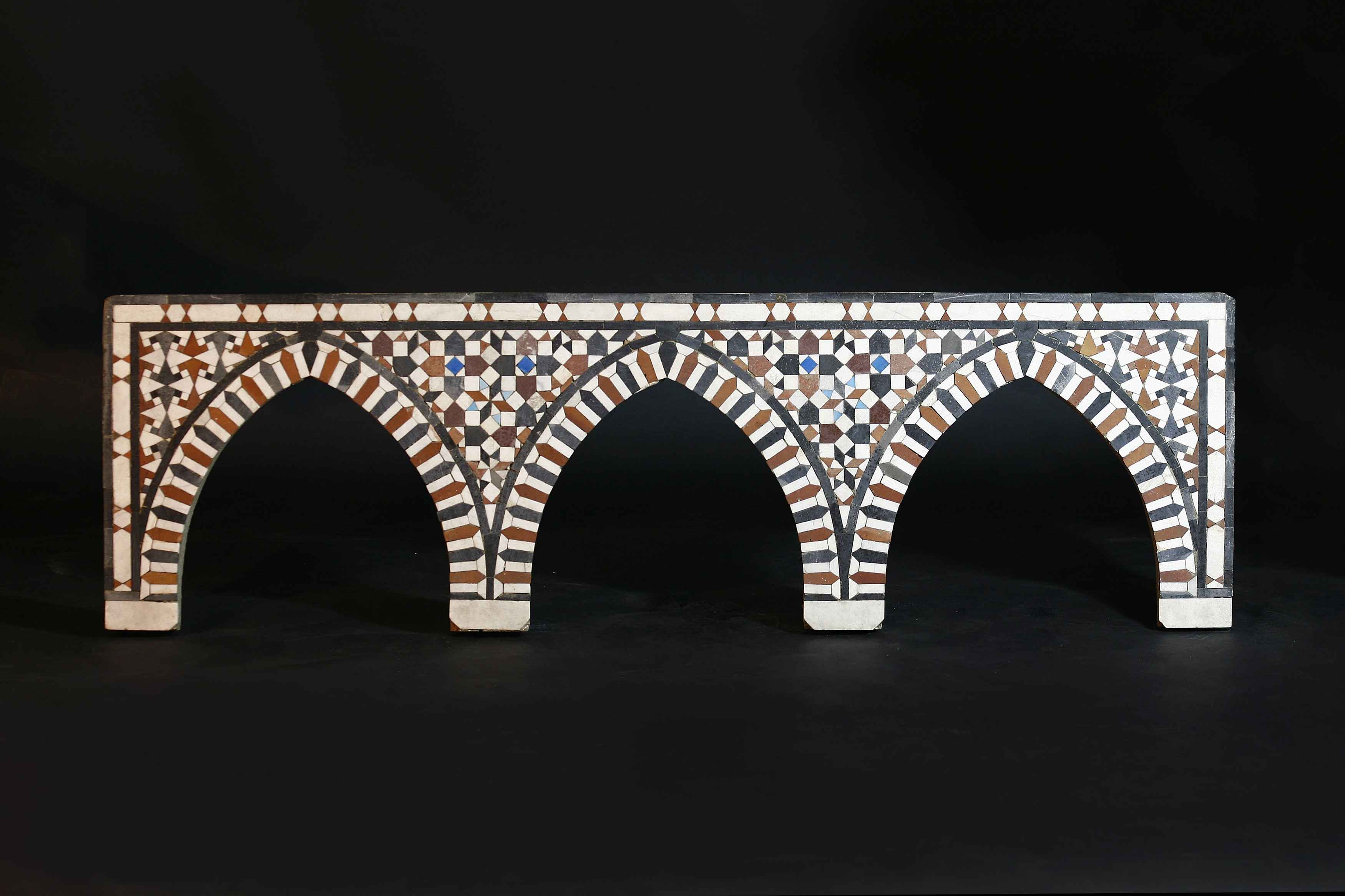 A Mamluk (15th-17th century CE) mosaic triple arched panel