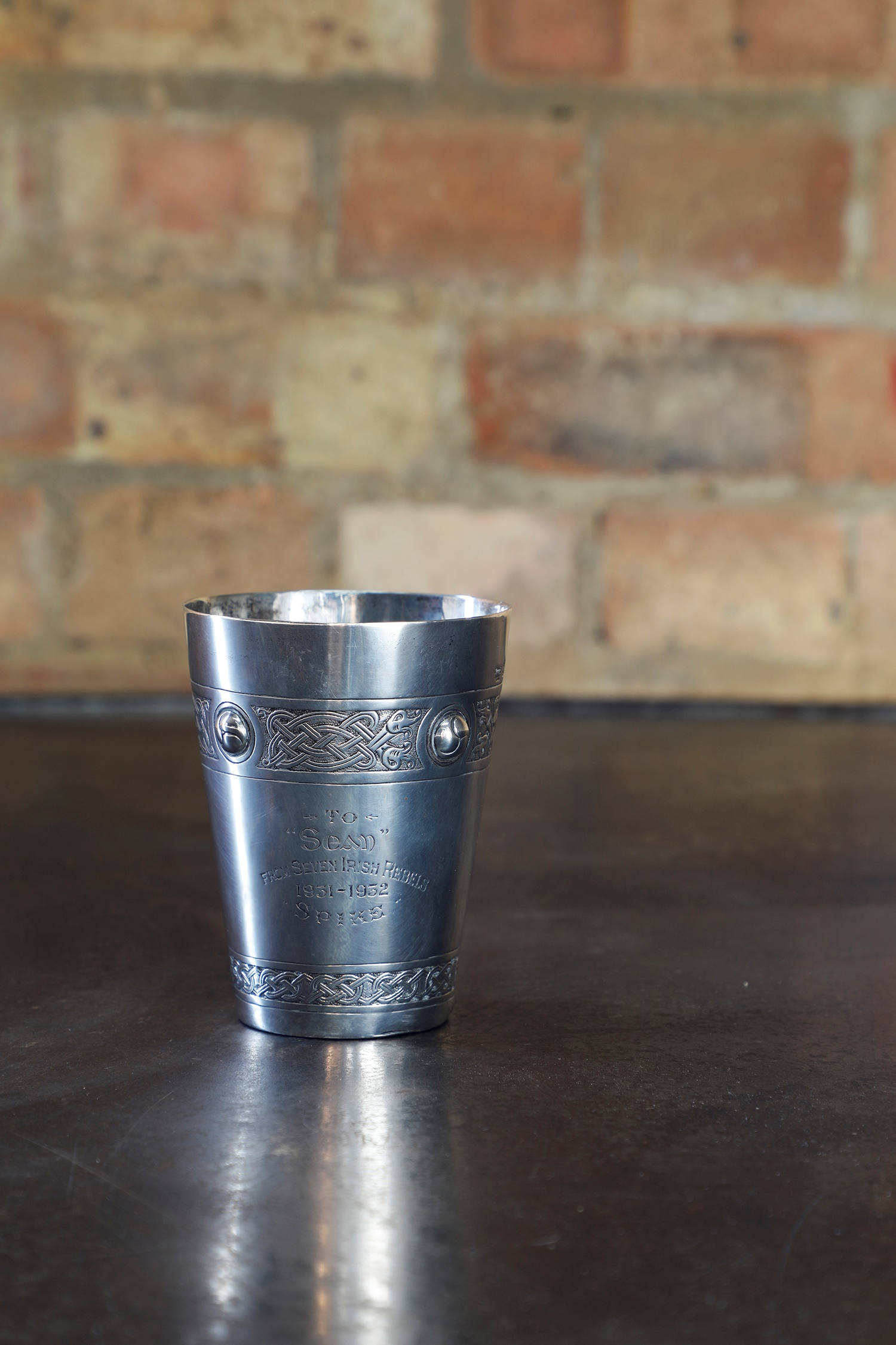 Irish Republican Interest: a silver beaker, by William Egan & Sons of Cork 1930, Dublin 1930-31