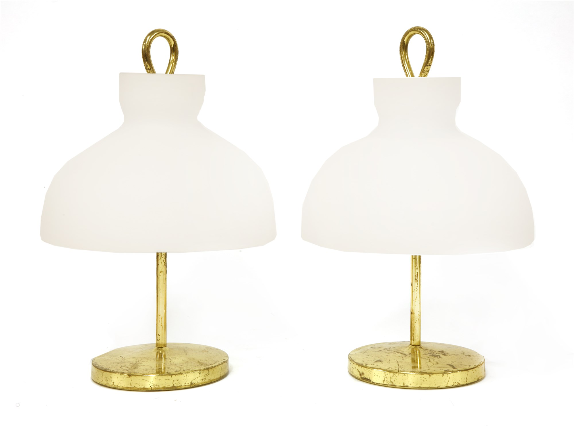 Pair of classic Arenzano brass table lamps