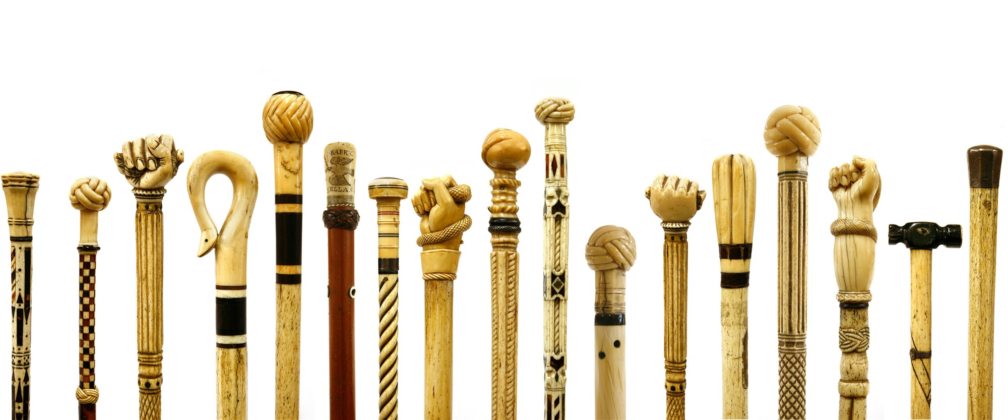 scrimshaw walking sticks