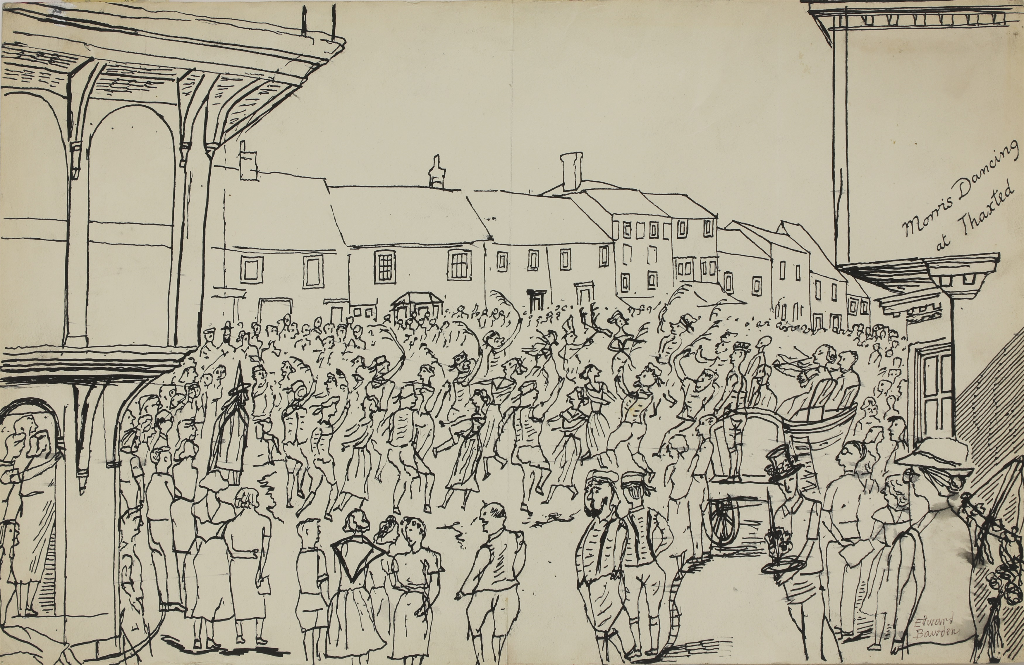 Edward Bawden - Morris Dancing At Thaxted