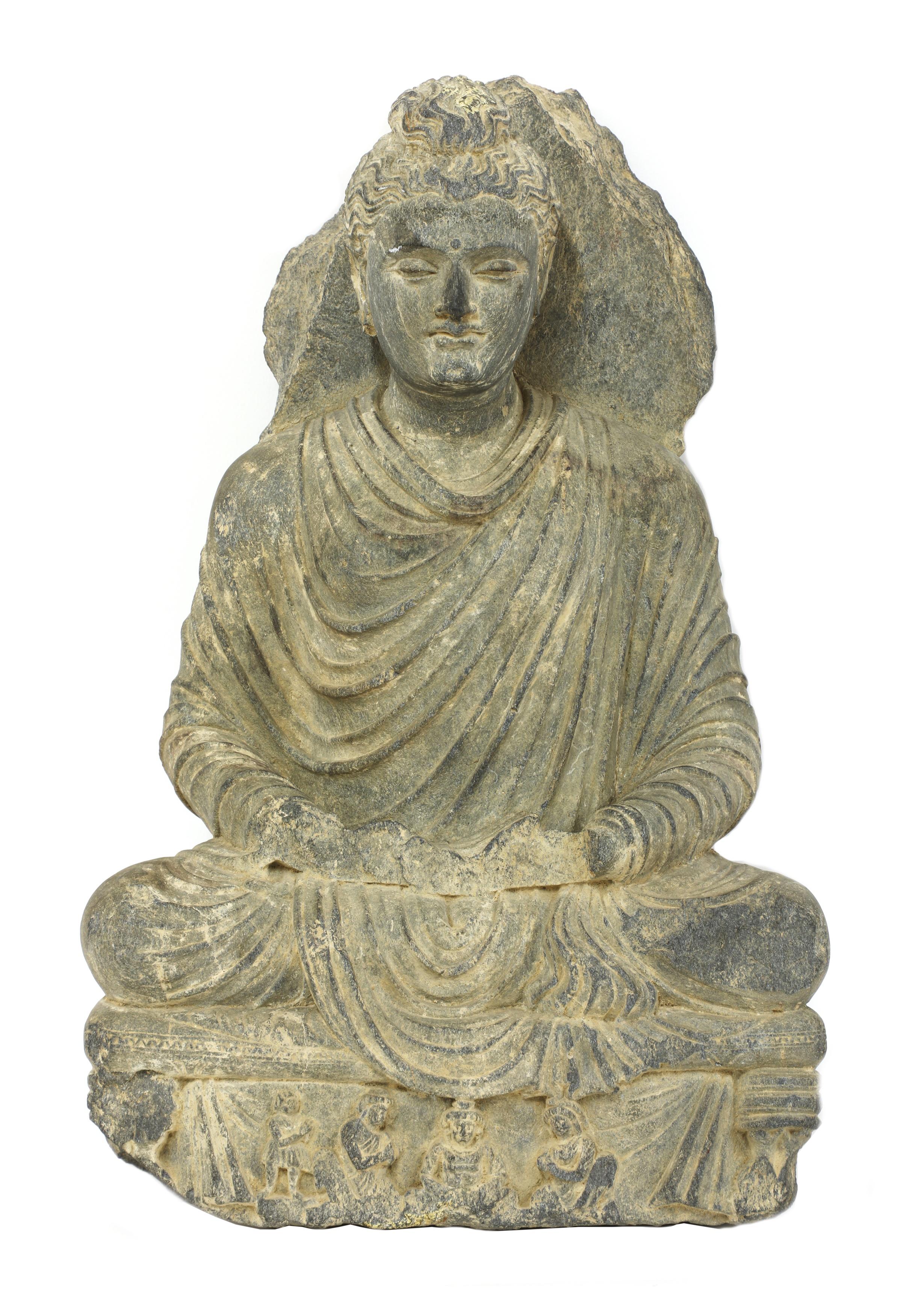 A Gandhara gray schist Buddha, 4th century