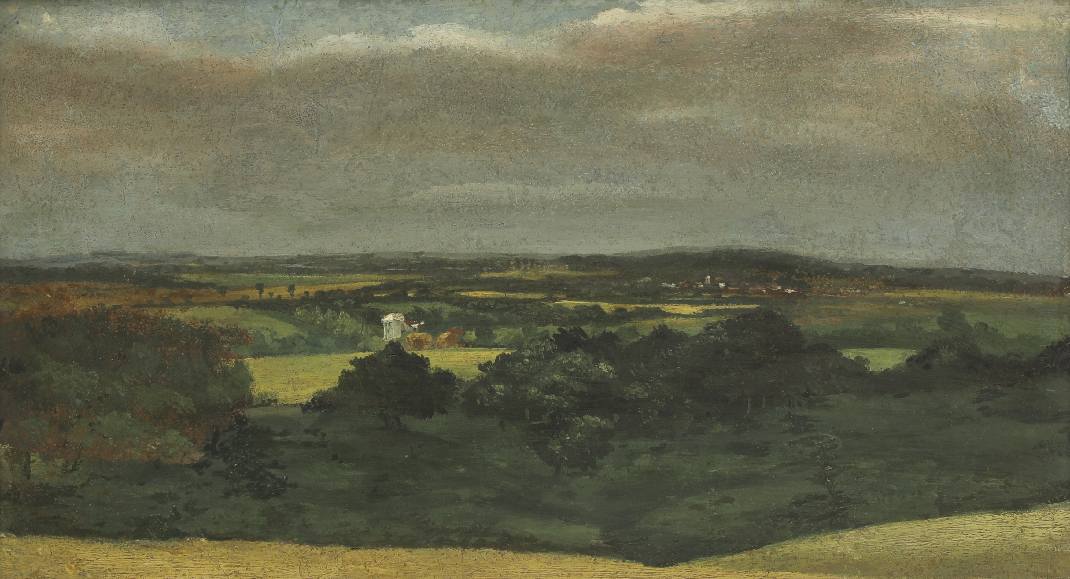 John Constable RA, Dedham Vale with Brantham Mill