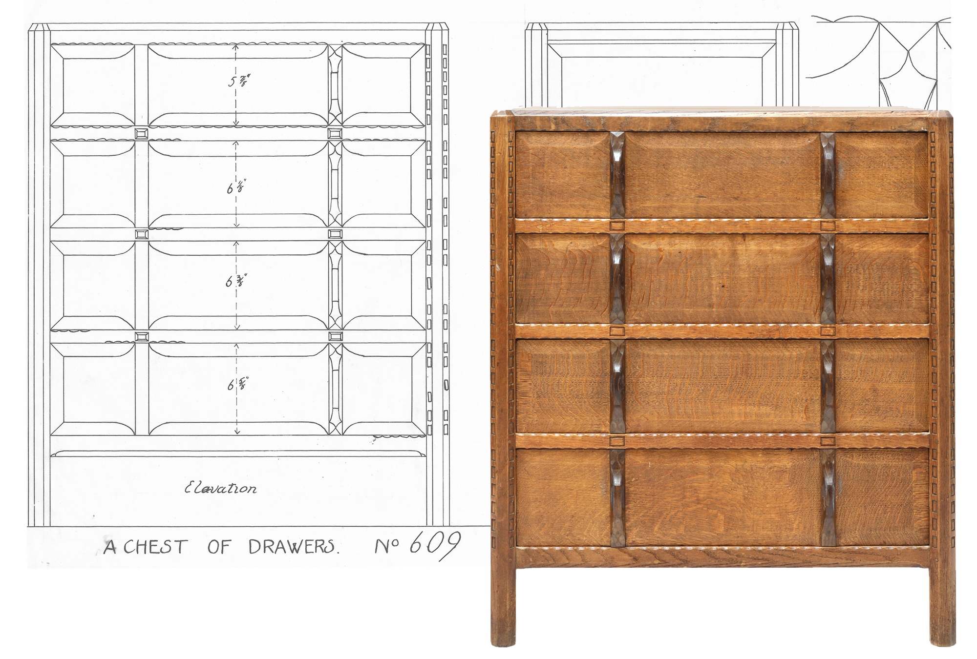 Gordon Russel Stow Oak Chest of Drawers