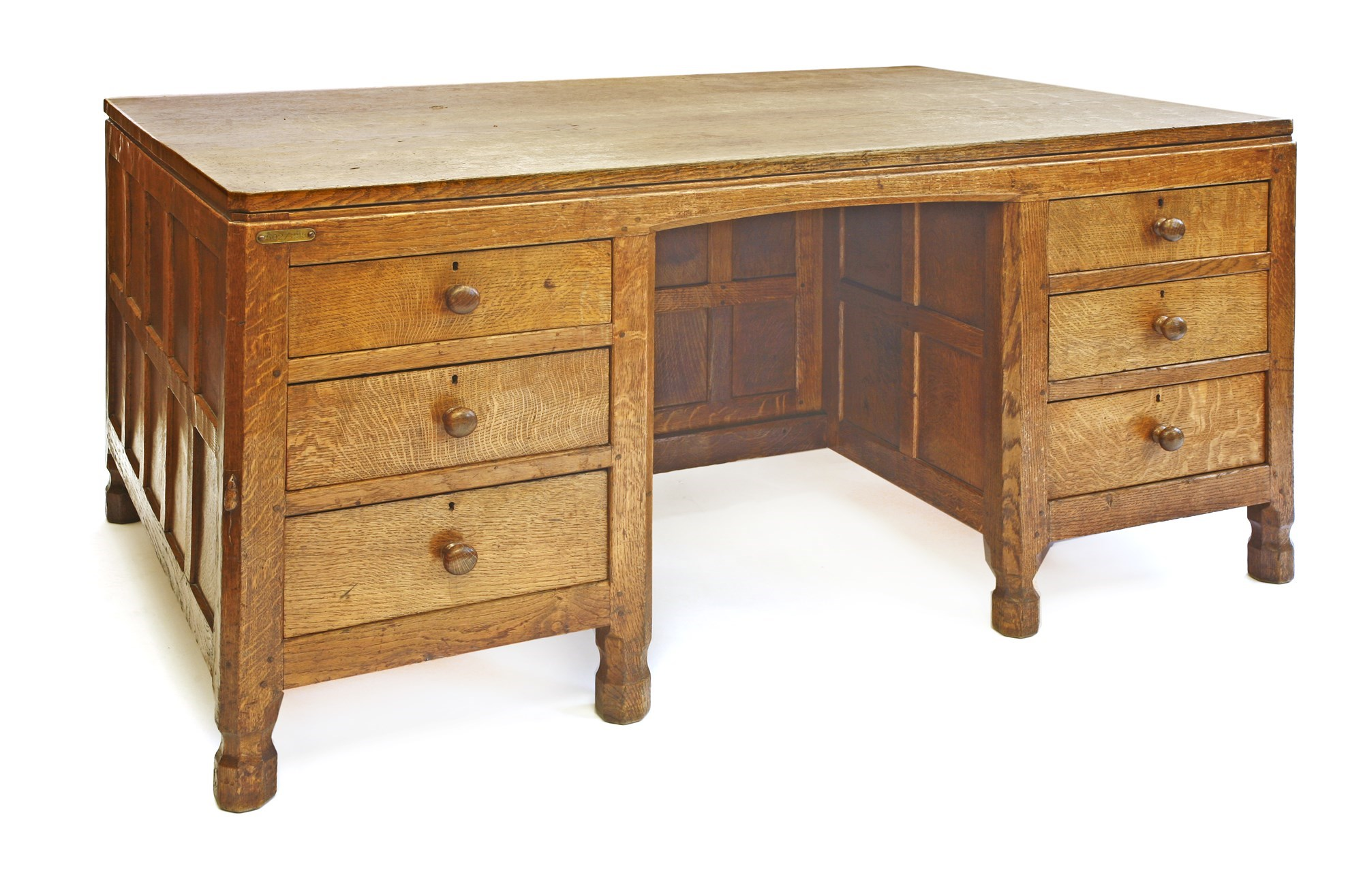 Mouseman Oak Partner's Desk