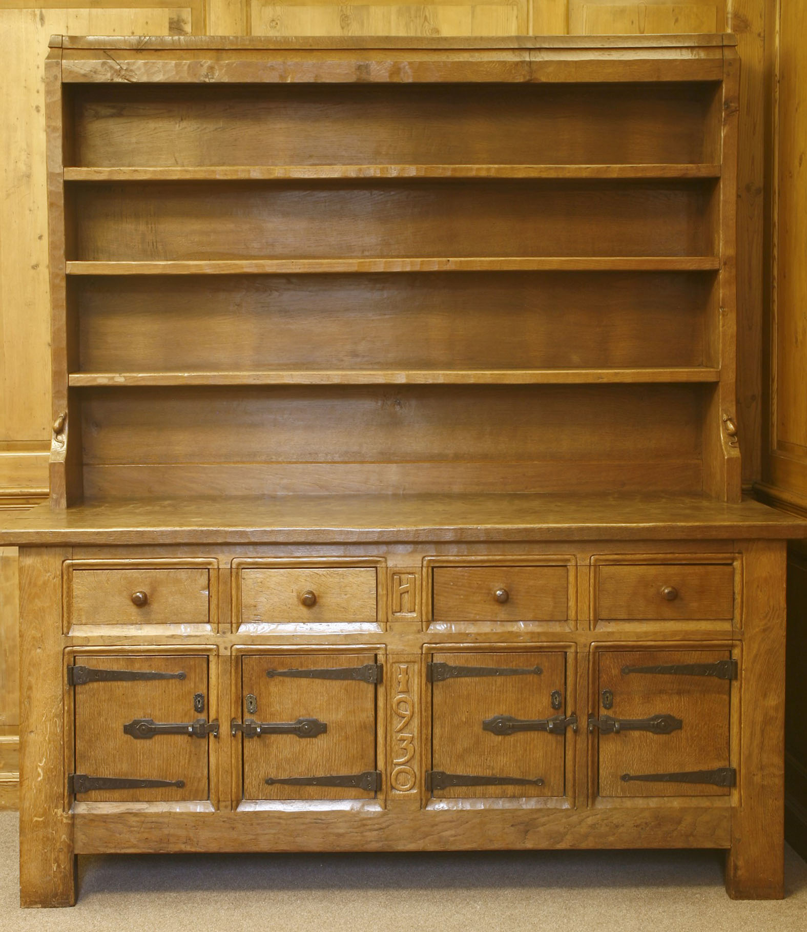 Mouseman Oak Dresser - sold for £43,050 including premium