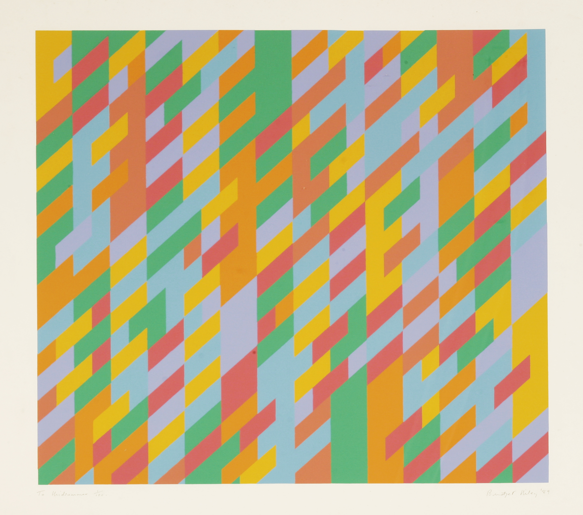Bridget Riley - To Midsummer (Schubert 34)