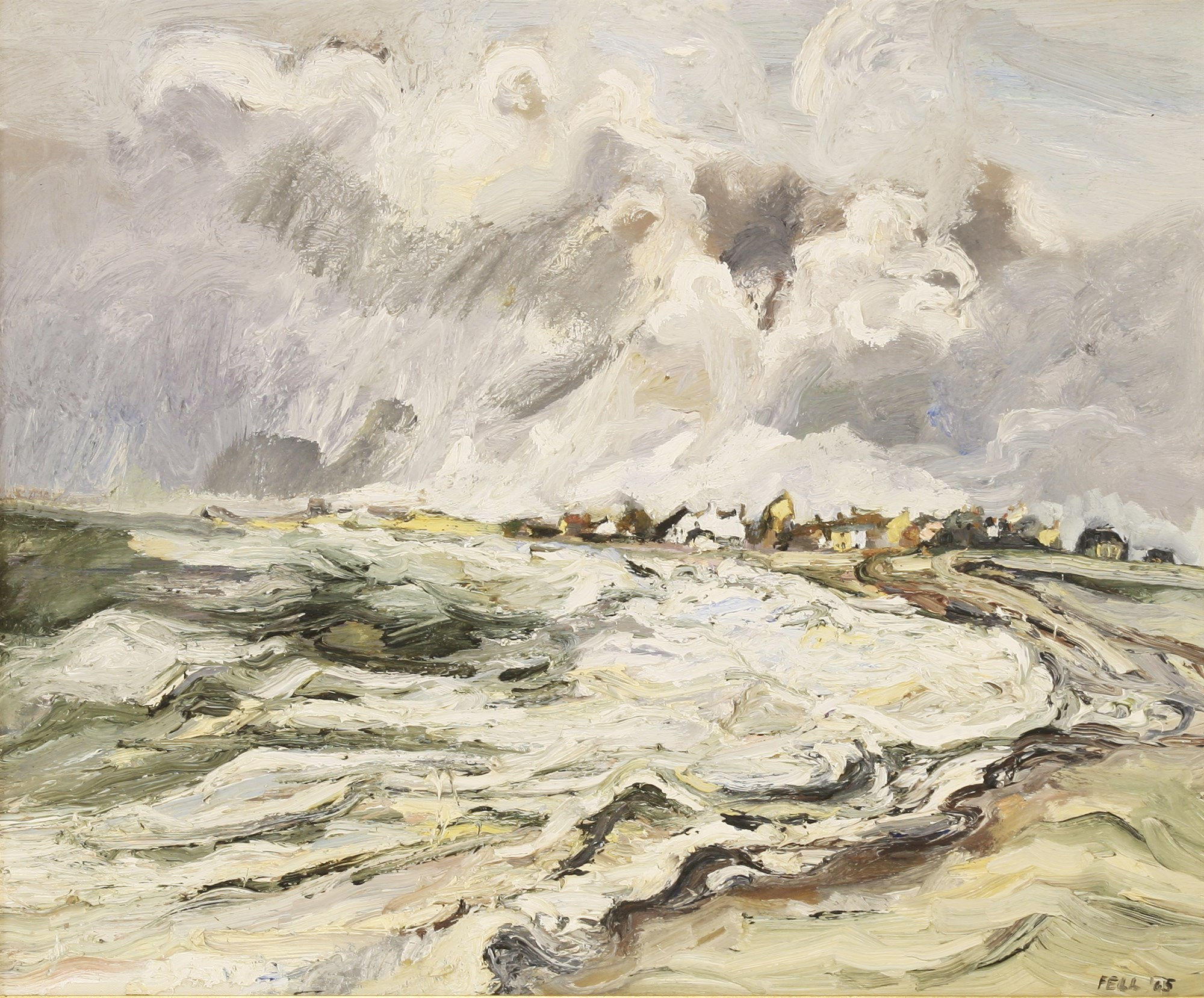 Sheila Fell 'Allonby, Approching High Tide'