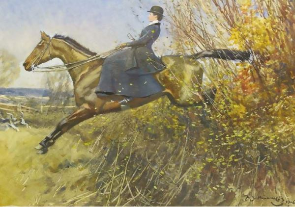 Alfred Munnings, A Lady on a Hunter