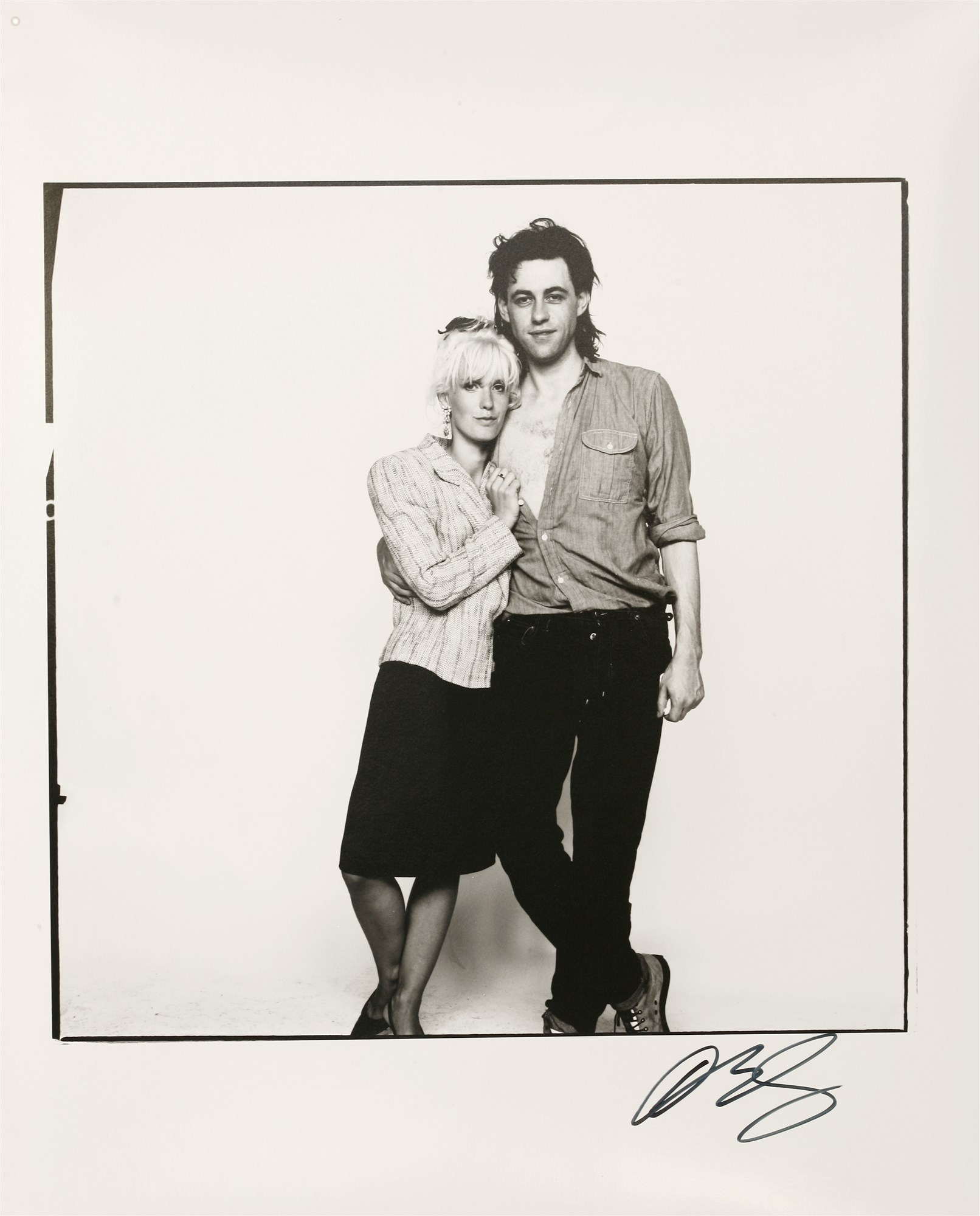 DAVID BAILEY (b. 1938) BOB GELDOF AND PAULA YATES, LIVE AID 13TH JULY 1985