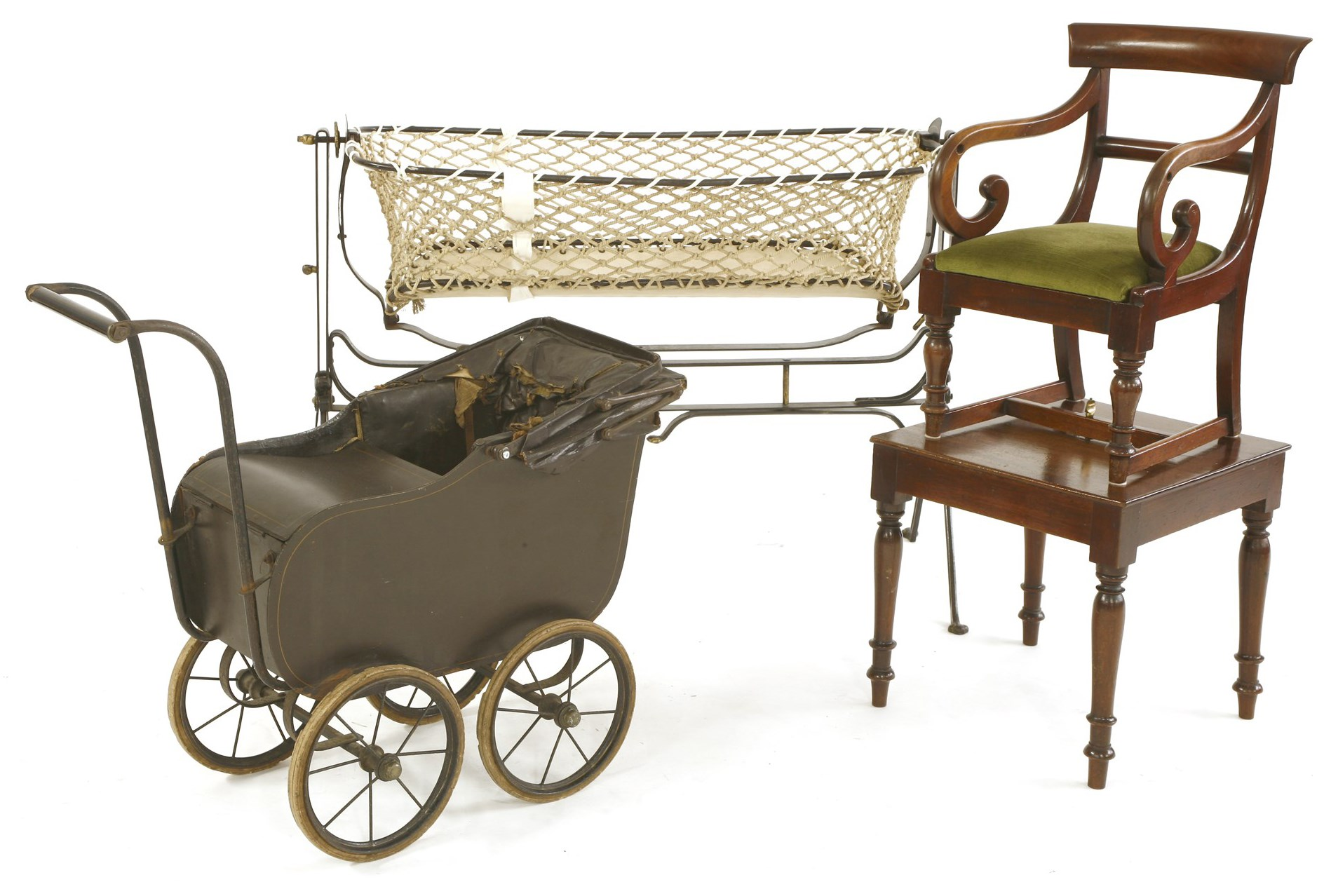 Cot belived to have cradled The Queen Mother comes up for auction at Sworders