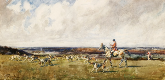 Lionel Dalhousie Robertson Edwards RI RCA (1878-1966) ON DEAN HILL, HURSLEY. Sold for £6,200