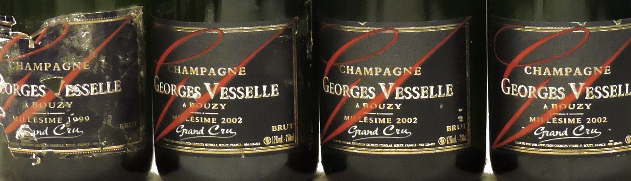 Lot 139 - Sworders Fine Wine & Port - Assorted Georges Vesselle, Grand Cru to include: 2006, four bottles; 2002, three bottles; 1999, one bottle; 2003, two bottles, ten bottles in total