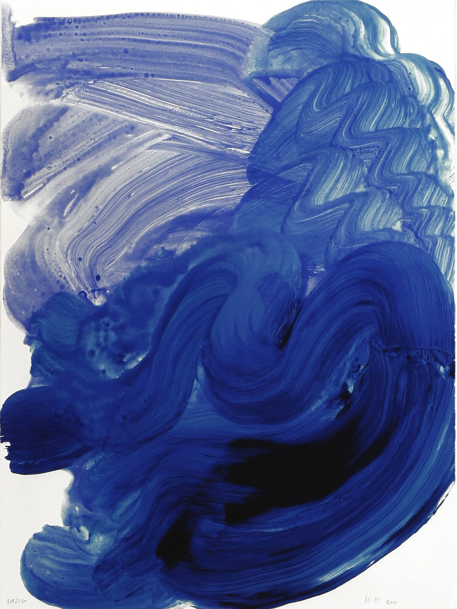 Howard Hodgkin SWIMMING screenprint