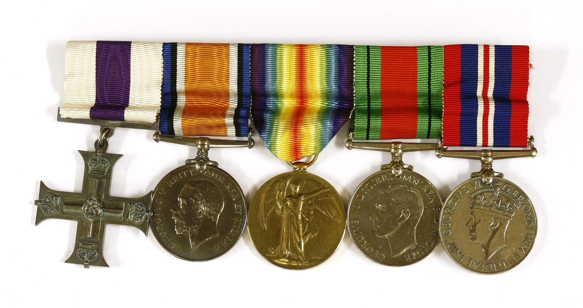 Medals awarded to Lieutenant Gerald Aubrey Bond
