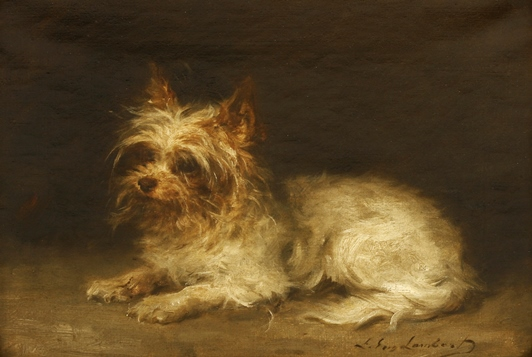 Louis Eugene Lambert, Portrait of a Terrier