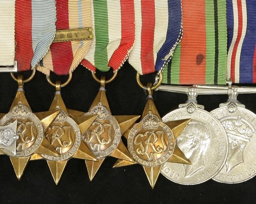 WWII Medals Awarded to Captain Francis Kinglake Hoyer-Millar