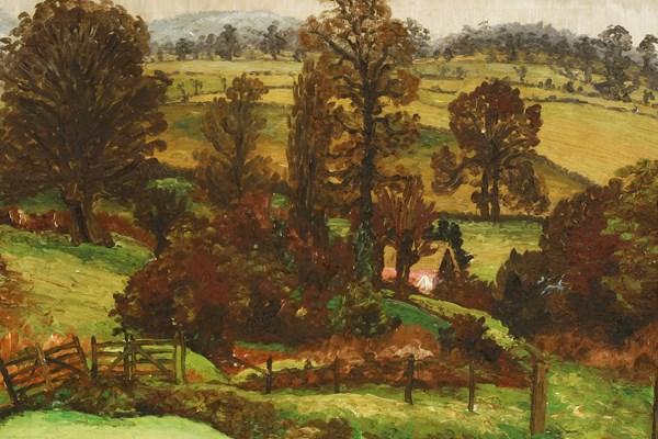 Sir Cedric Morris (1889-1982) A Suffolk Landscape, Autumn. Sold for £24,000 plus buyer's premium