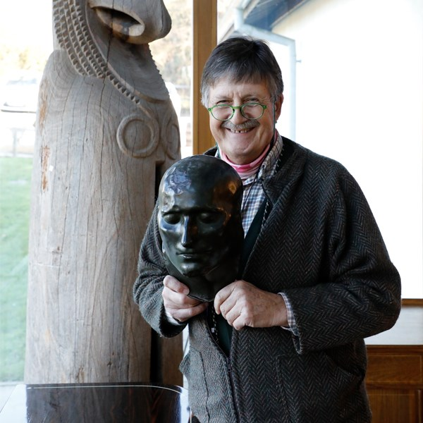 Tim Wonnacott and Napoleon Death Mask