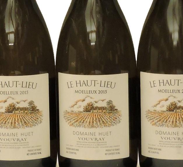 Lot 111 - Sworders Fine Wine & Port - Vouvray, Moelleux, Le Haut Lieu, Domaine Huet, 2015, six bottles