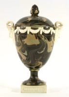 Lot 3 - A rare Wedgwood & Bentley agateware Vase and Cover