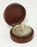 Lot 101 - An Asprey pocket barometer and altometer