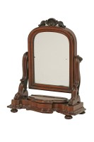 Lot 103 - A good mahogany miniature toilet mirror