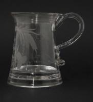 Lot 71 - A glass Tankard