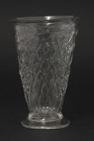 Lot 73 - An unusual diamond moulded Jelly Glass