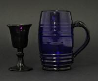 Lot 80 - A blue glass Mug