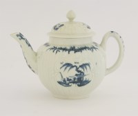 Lot 9 - A rare Worcester blue and white Teapot and Cover