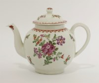 Lot 14 - A Lowestoft polychrome Teapot and Cover