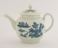 Lot 16 - A Worcester blue and white printed Teapot and Cover