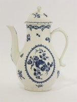 Lot 22 - A Worcester blue and white Coffee Pot and Cover