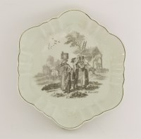 Lot 25 - A Worcester Hancock printed Teapot Stand