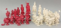 Lot 93 - A Chinese export figural chess set