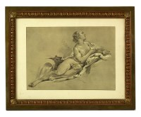 Lot 90 - A pair of bronze and copper picture frames