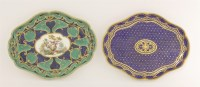 Lot 38 - Two later decorated Sèvres Dishes