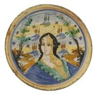 Lot 43 - A Spanish maiolica Dish