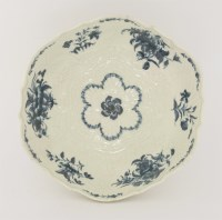 Lot 6 - A good Worcester blue and white Junket Dish